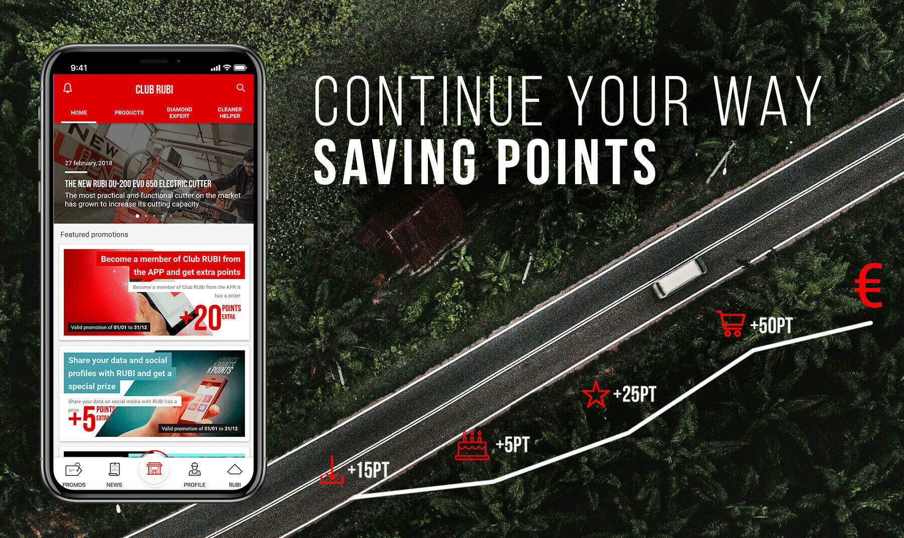 The new CLUB RUBI APP is the ideal tool for all ceramic and construction professionals