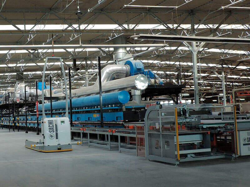 Sacmi manufacturing line.