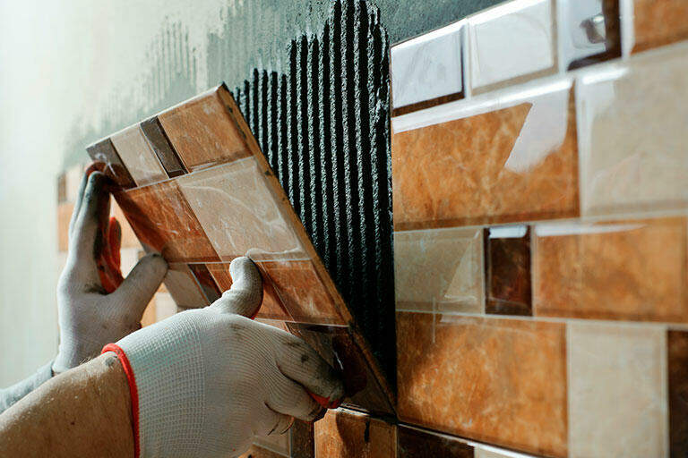 preparing a wall for tiling