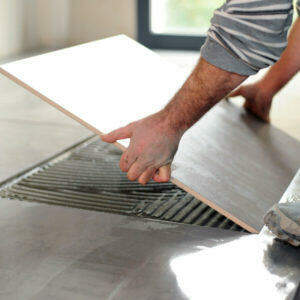 can you tile on wood