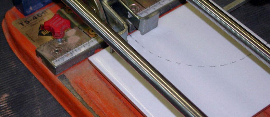 marcar para cortar cerámica en círculo