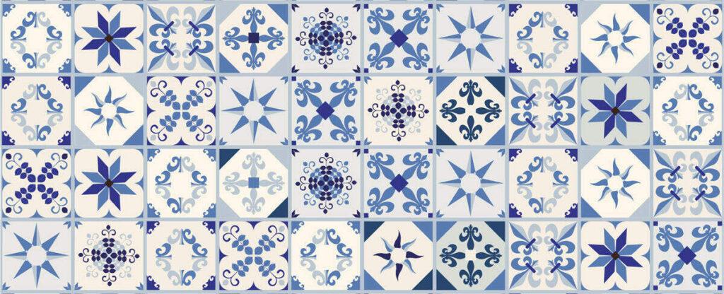baldosa hidráulica azul
