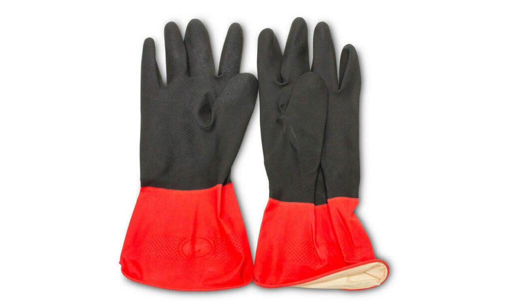 guantes de látex para seguridad en la obra