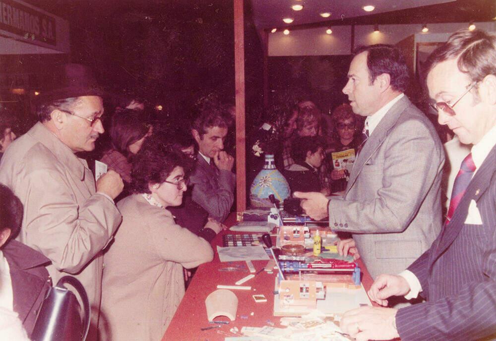 M. Miquel Escayol à la foire Hogarhotel de Barcelona en 1971.
