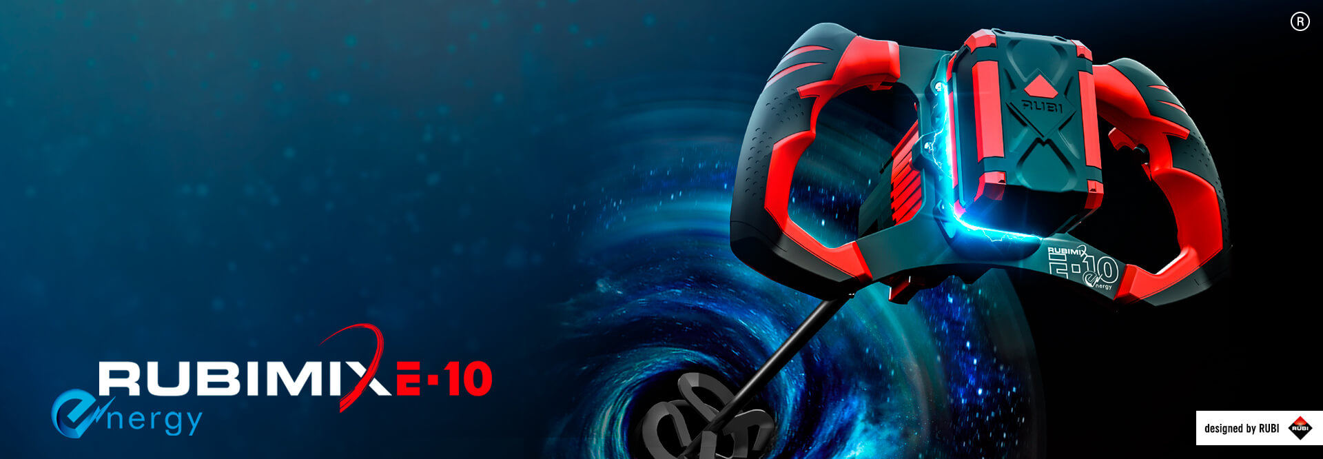 RUBIMIX E-10 Energy,  a cordless mixer that combines functionality,  power and lightness