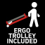 Ergonomic trolley included