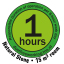 Maksymalnie 1h pracy ciągłej zgodnie z normą TNO