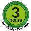 Maksymalnie 3h pracy ciągłej zgodnie z normą TNO