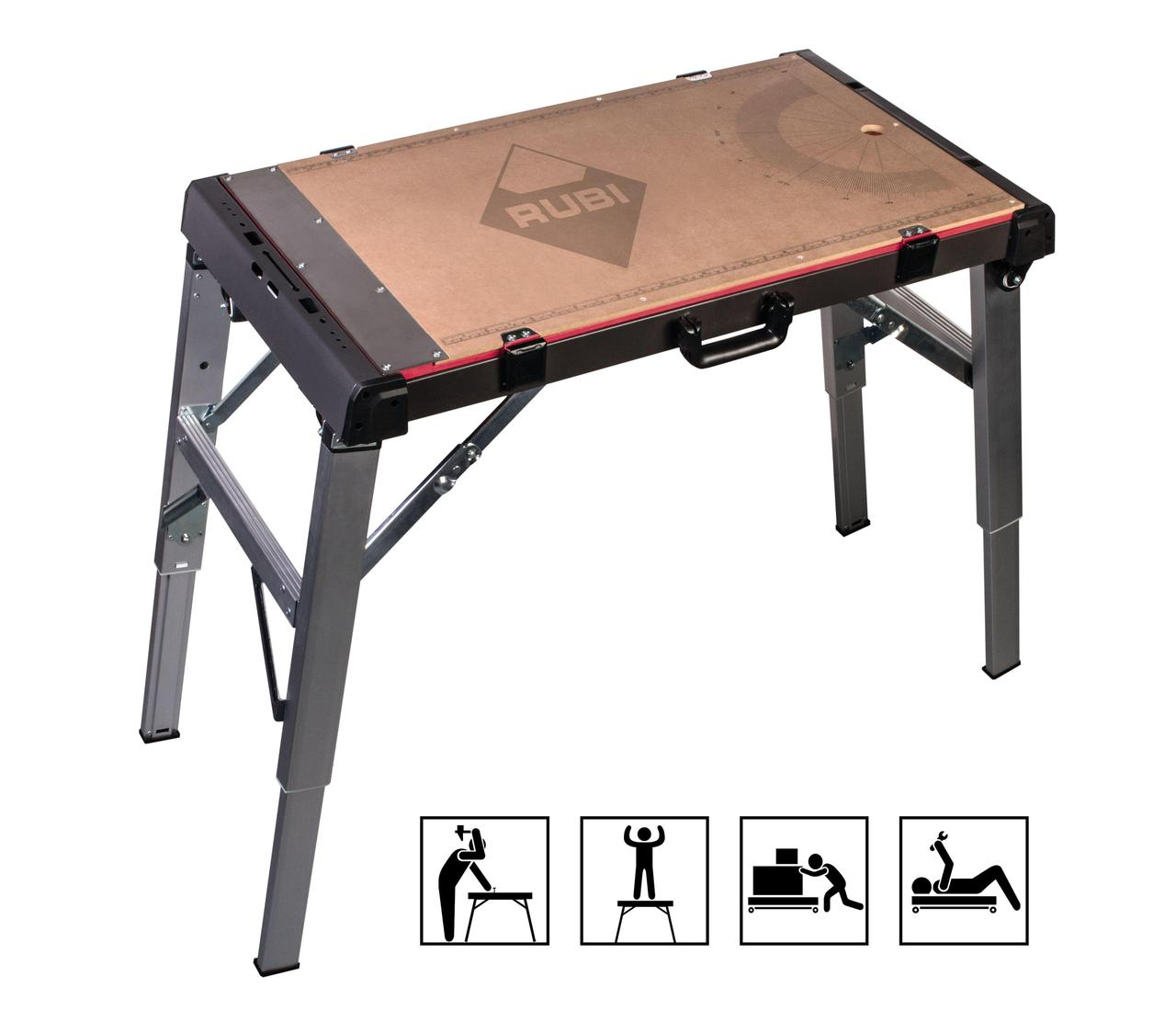 Foldable work table 4 in 1