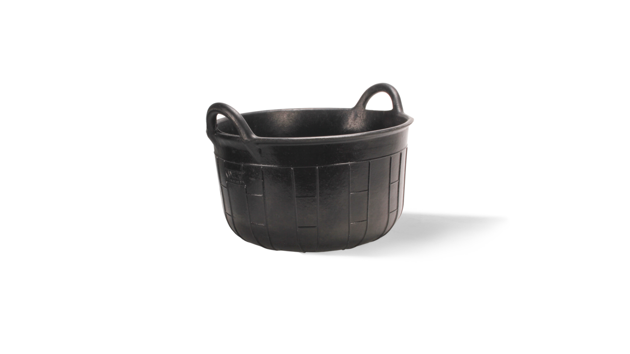 CARBONERA range of rubber baskets and tubs