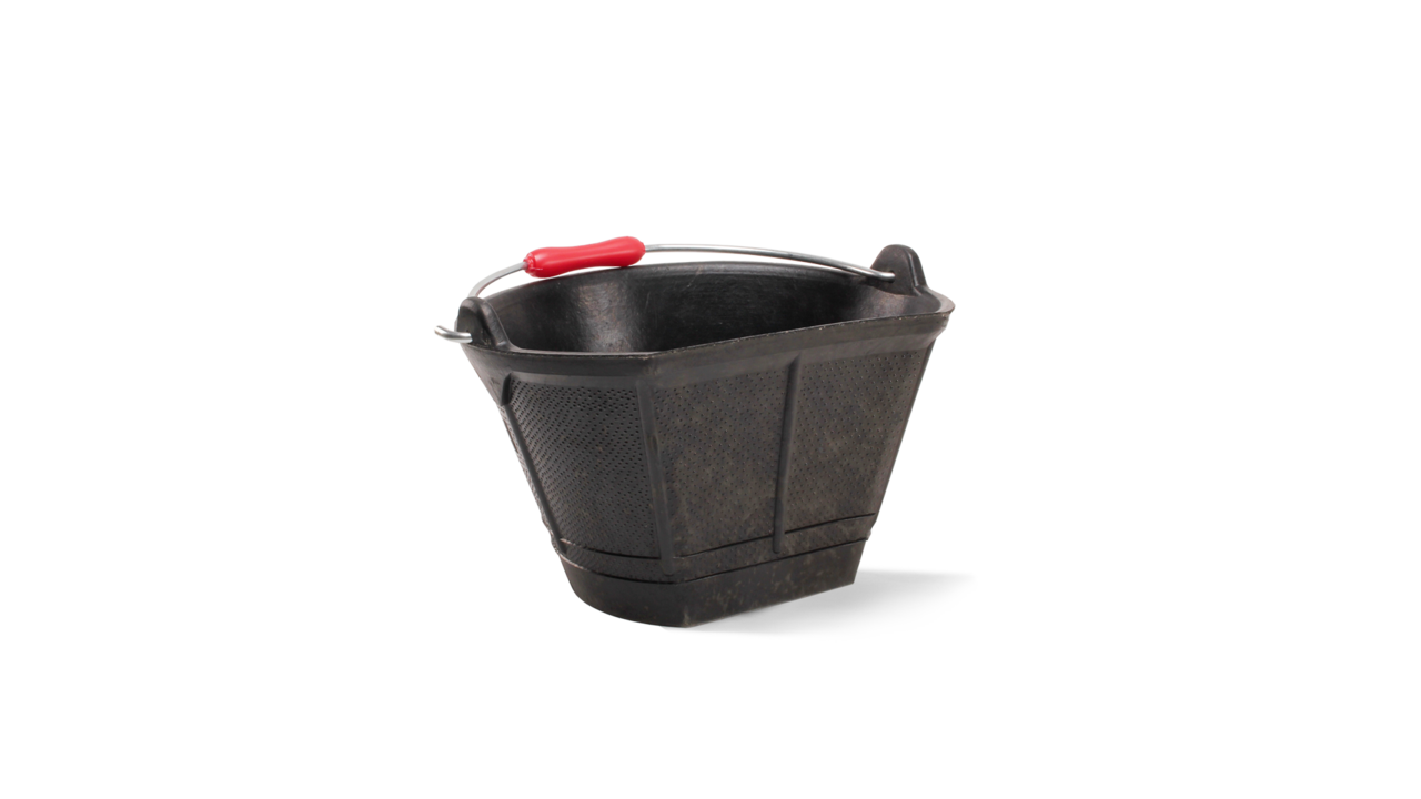 Italiano rubber bucket with flat side (10l)