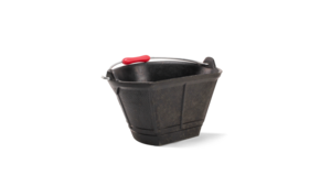 Italiano rubber bucket with flat side (2.7 Gal.)