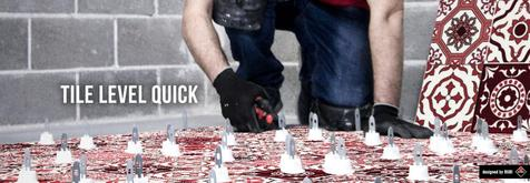 The RUBI Tile Level Quick levelling system prevents the lippage during tile installation