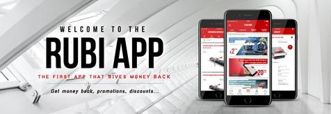Club RUBI APP, the first APP that gives you money for your purchases