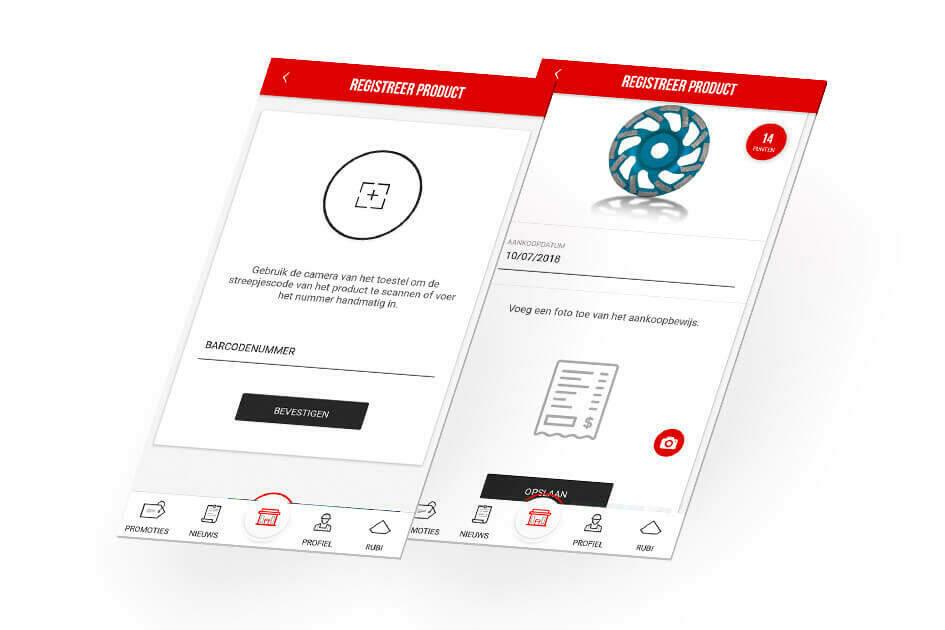 Registreer eenvoudig een RUBI product door een foto van het aankoopbewijs te maken en de streepjescode te scannen.