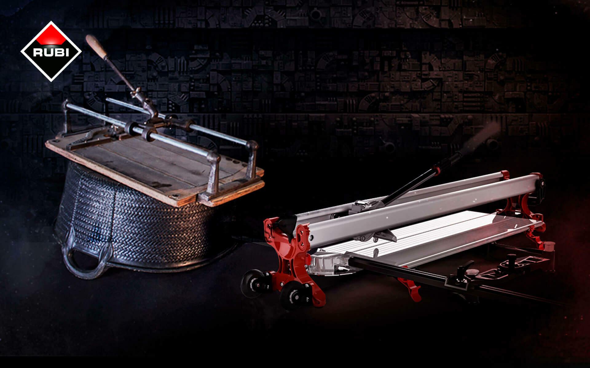 RUBI is de uitvinder van de eerste tegelsnijder voor het snijden en breken van mozaïek en tegels, en nu het wereldmerk in de tegelmarkt.