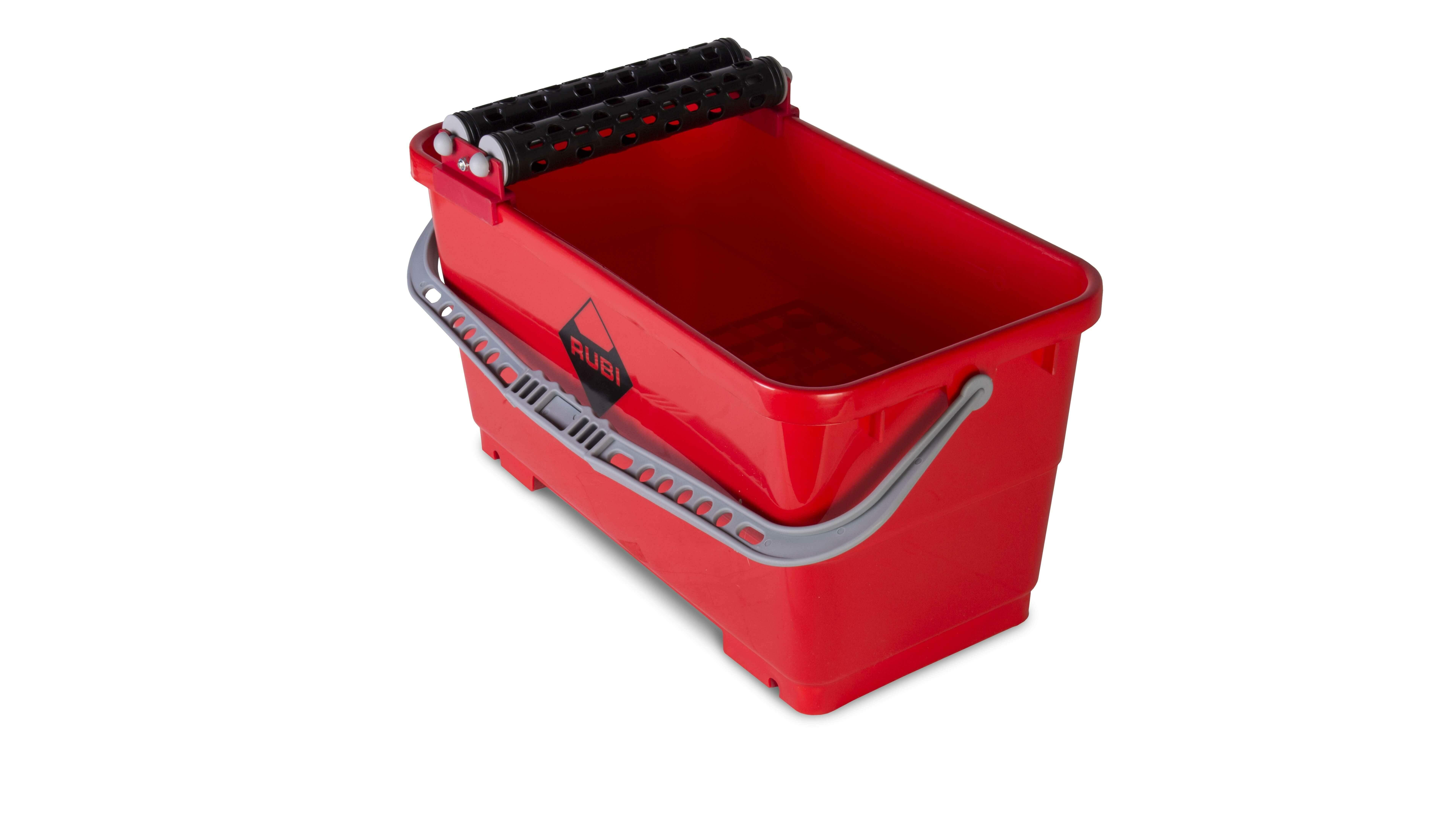 Een washboy met afdrukrooster en uitwringrollen is een onmisbaar gereedschap voor het schoonmaken van grote oppervlakken.