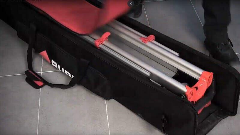 Voor het beste onderhoud van je tegelsnijder is het belangrijk je tegelsnijder in een transportkoffer te vervoeren.