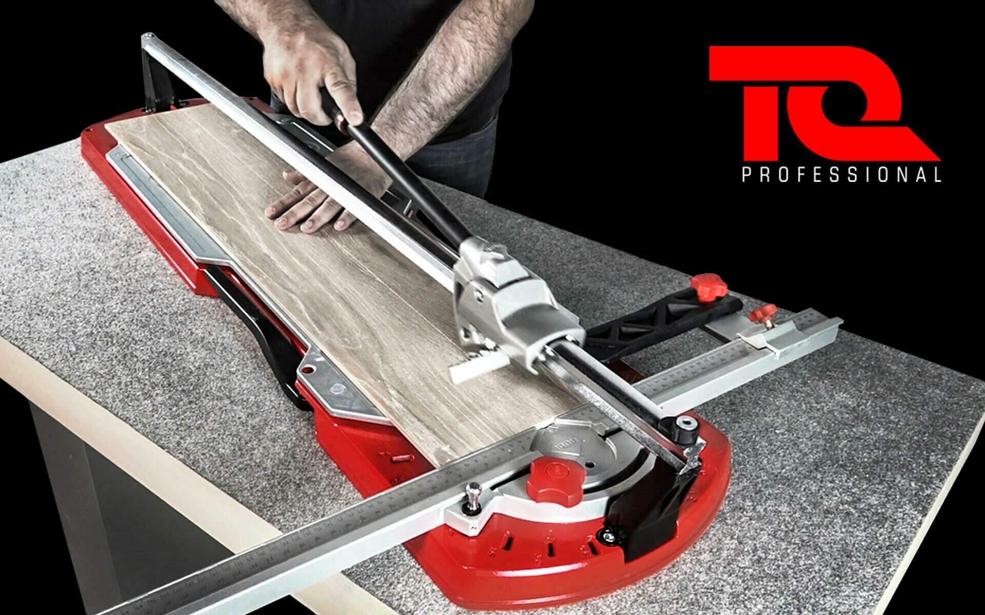 De nieuwe tegelsnijder van RUBI met een enkele geleider: de TQ-MAGNET tegelsnijder.