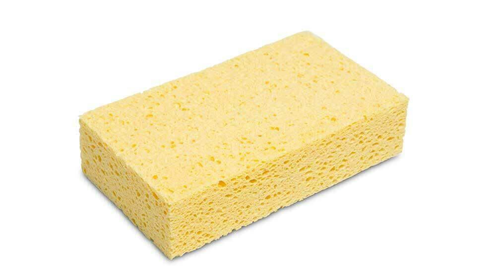 Cellulose sponzen kun je voor alle cement en epoxy gebruiken.
