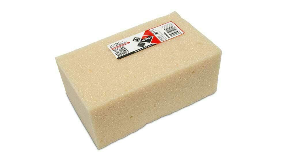 Kunststof sponzen en sponsspanen gebruik je voor cementgebonden voegen.