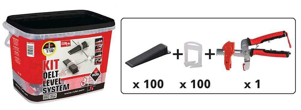 De tegelzetter heeft met de DELTA kit alles in huis voor een egale tegelvloer.