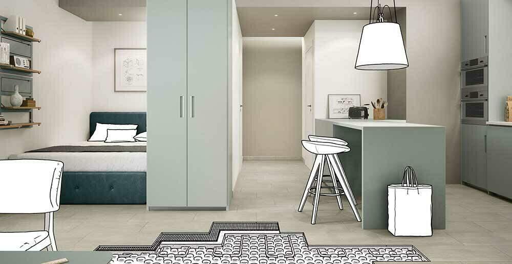 Tegels geven in combinatie met vloerverwarming meer warmte in alle vertrekken.