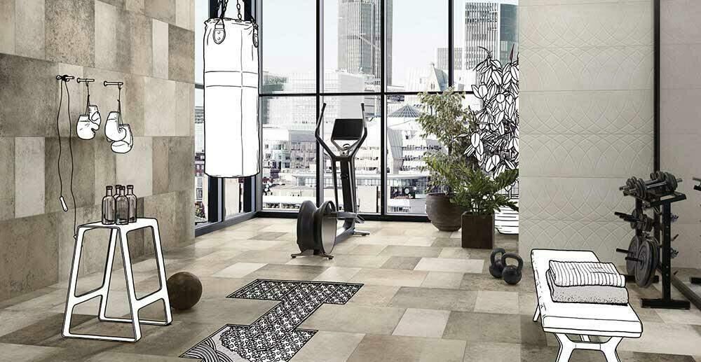 Vloerverwarming, in bijvoorbeeld een fitnessruimte, functioneert ook als koelingssysteem.