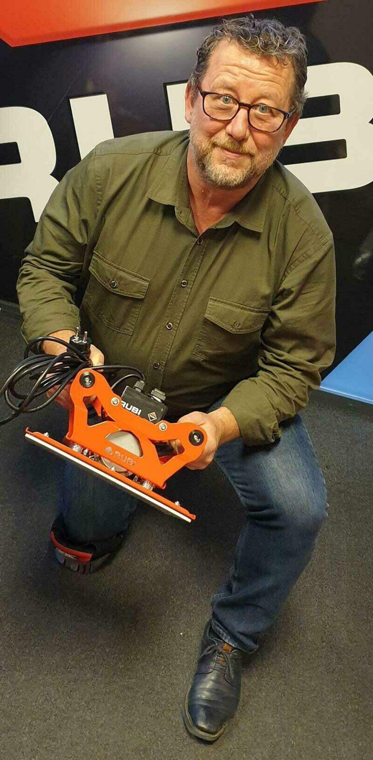 Bert is één van de initiatiefnemers geweest bij de ontwikkeling van de RUBI TRILLER.