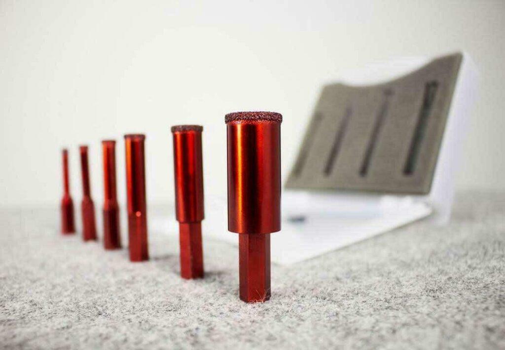 De DRYGRES 4DRILL waxboren in verschillende diameters van 6 tot 20 mm.