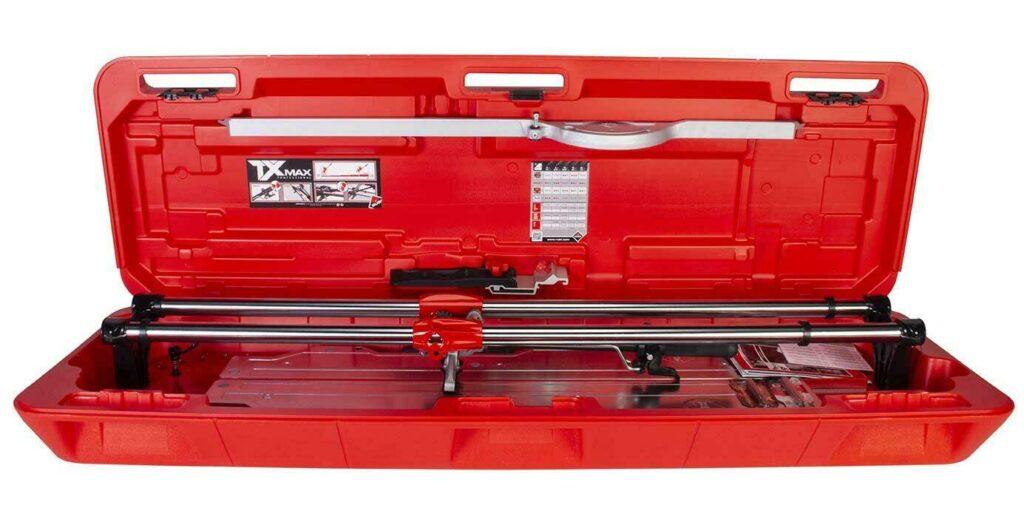De TX-MAX kan opgeborgen worden in de RUBI koffer.