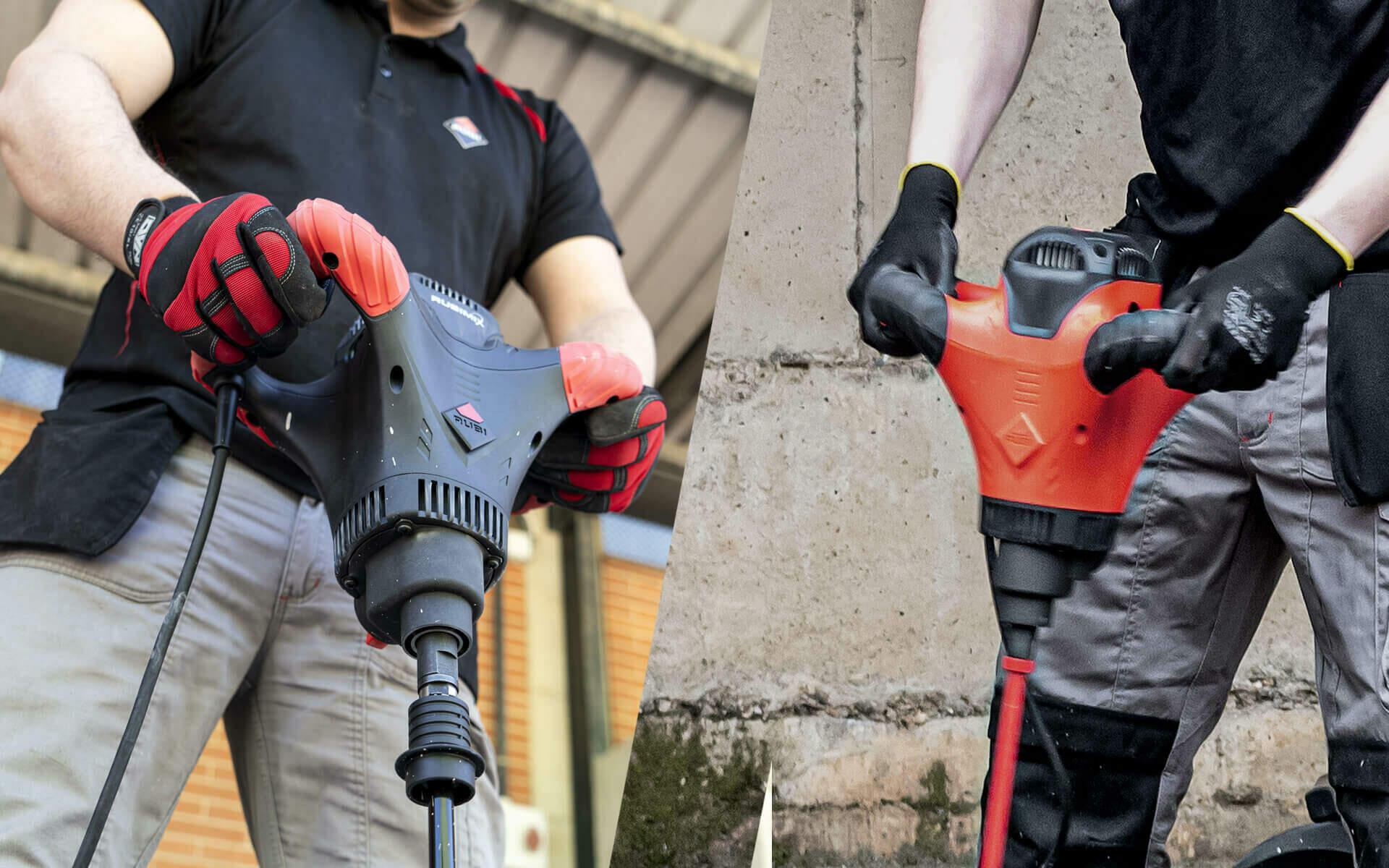 De twee nieuwste mixers van RUBI: de RUBIMIX-9 SUPERTORQUE en de RUBIMIX-9 POWER MAX.