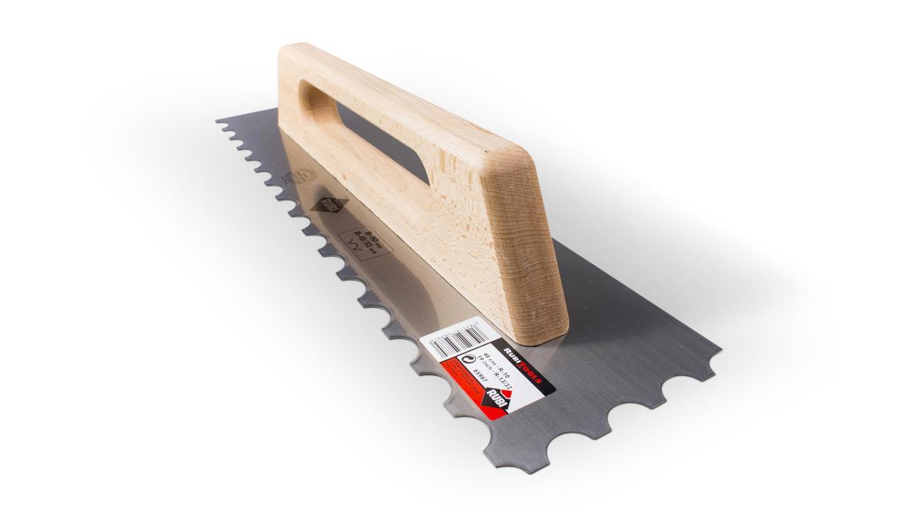 Tilers Pro Floor Trowel 10mm Notch Tile Adhesive Stainless Steel Tiling GERMAN