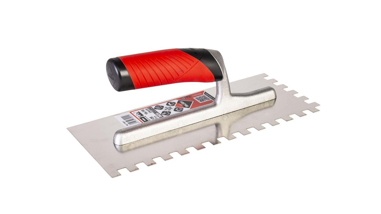 Rubi Open Handle Notched Steel floor Trowel tiling