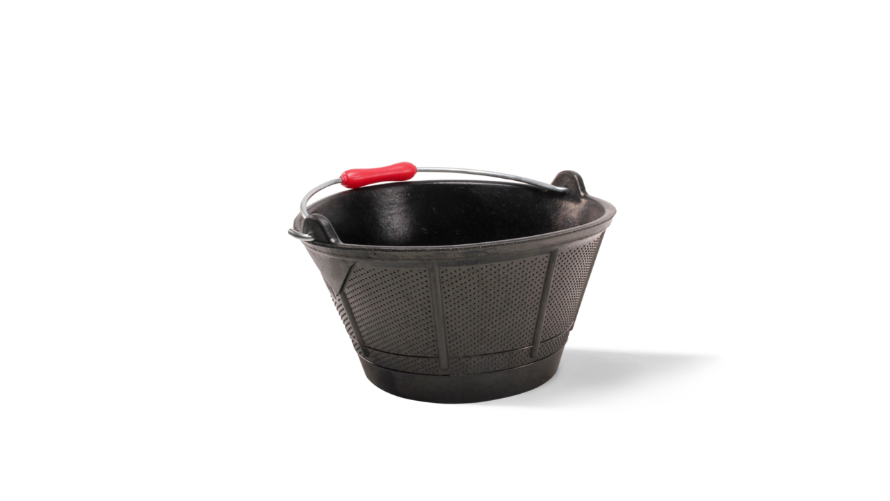 Italiano rubber bucket plastic handle (2.7 Gal.)