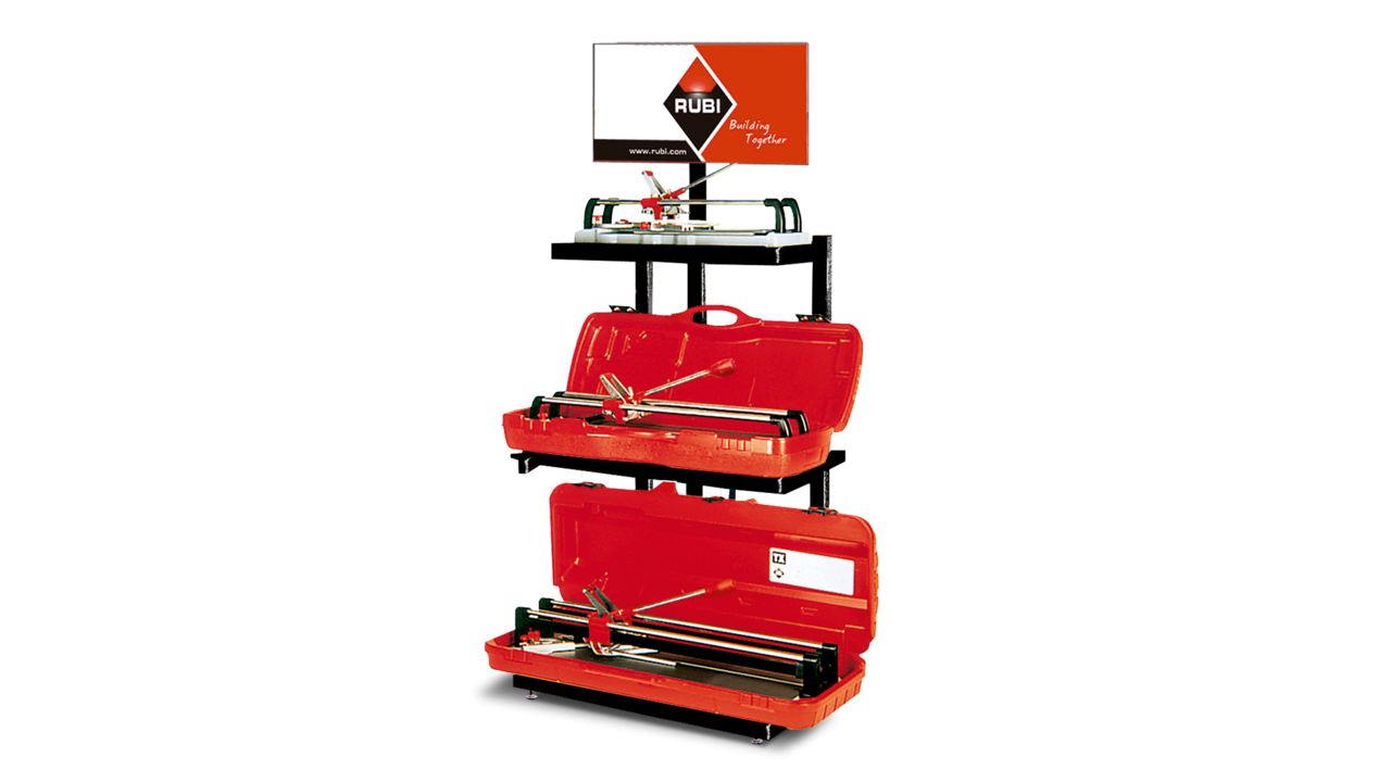Display for manual tile cutters