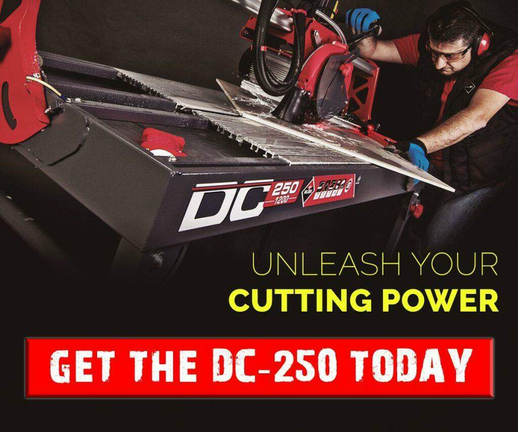 The best tile saw - RUBI DC-250 AD