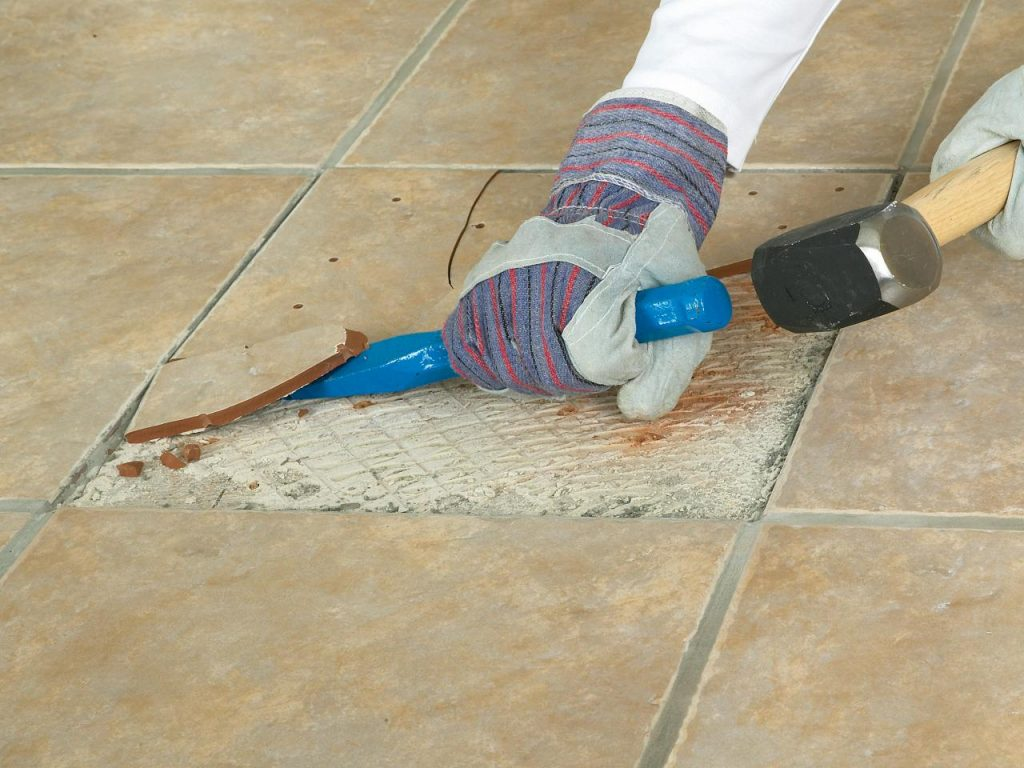 Sanded vs. Unsanded Grout - Damaged Tiles