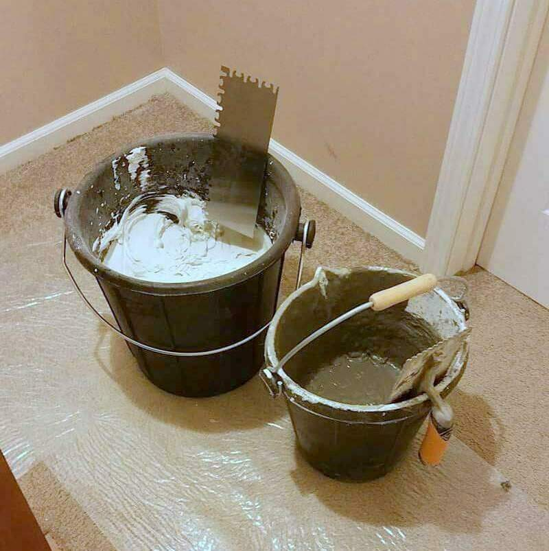 Must Have Tile Installation Tools - Rubber Buckets