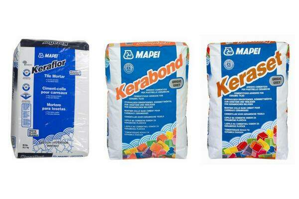 Modified or Unmodified Thinset - Mapei Kerabond, Keraset, and Keraflor