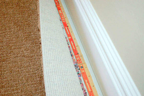 Tile to Carpet Transition Options - Mount Tack Strips to Sub-Floor