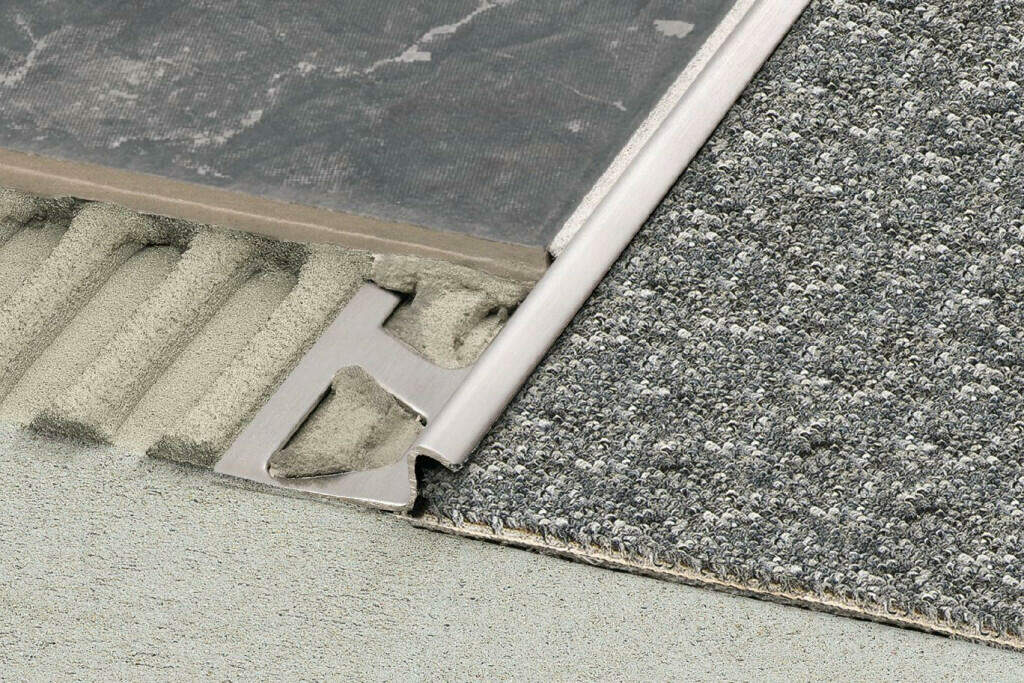 Tile to Carpet Transition Options - The Z-Bar Transition