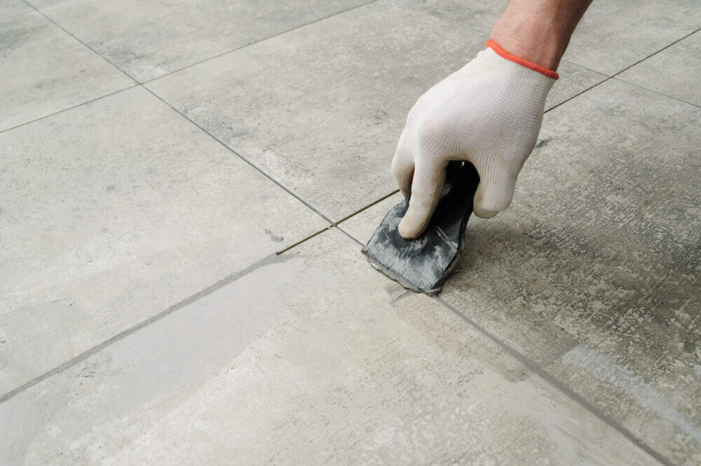 tile installation without grout