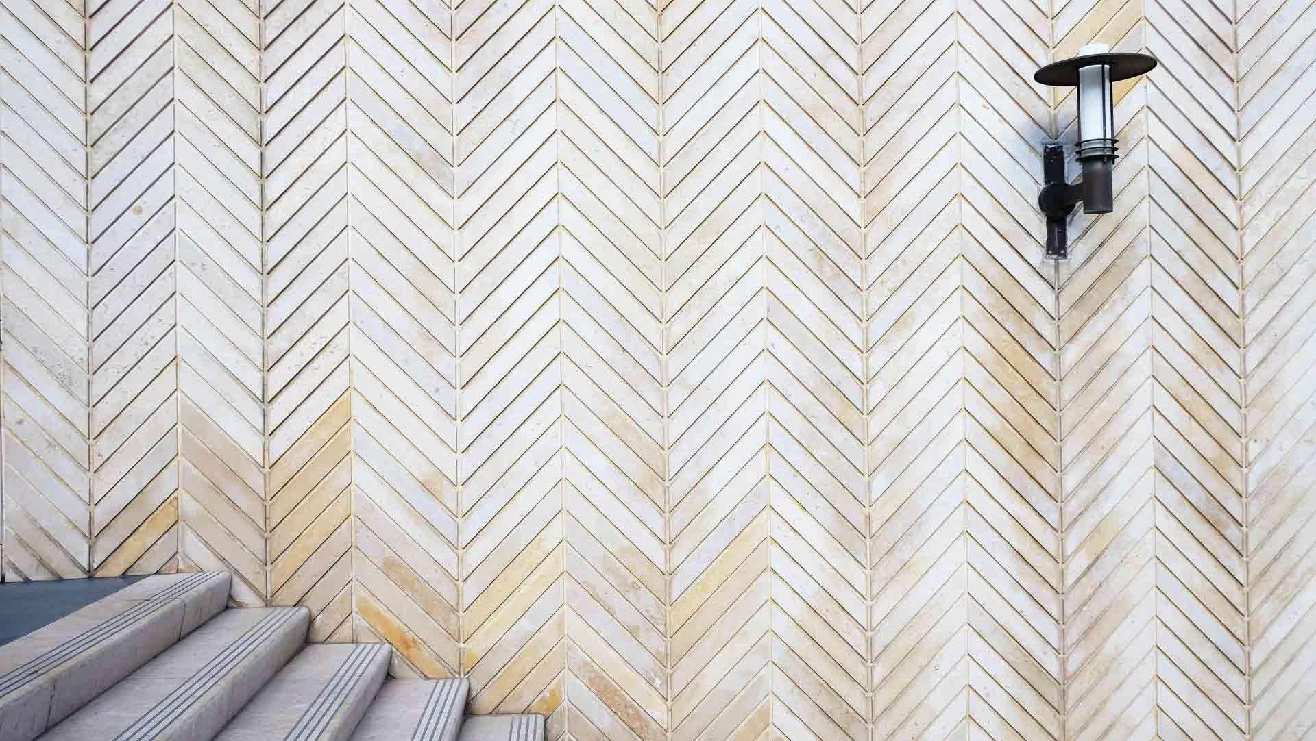how to lay herringbone tile